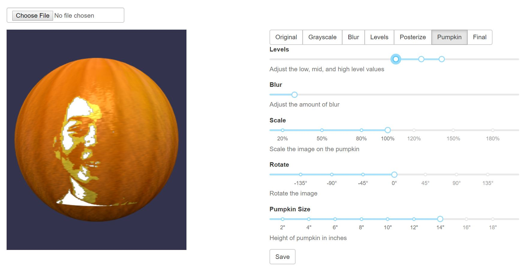 Portrait Pumpkin App